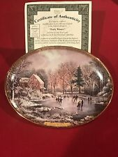 Bradford Exchange Currier & Ives Christmas Collection 1st Issue