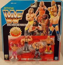 WWF Hasbro - Mini Wrestlers Set #2 Bushwhakers Brutus Beefcake & Greg Valentine