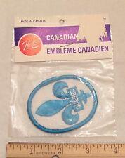 NIP Vintage QUEBEC Canada Fleur De Lis Crest Canadian Souvenir Embroidered Patch