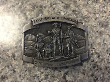 Century Marketing Connor MT Explorers at Portage Centennial Pewter Belt Buckle