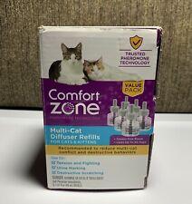6 Multicat Diffuser Refills Comfort Zone Cat Feline Stress Behavior Relief