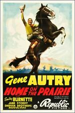 CINEMA:HOME on the PRAIRIE G. AUTRY-POSTER/REPRO 60x90cm d'1 AFFICHE ANCIENNE