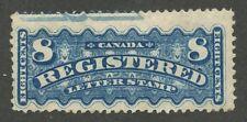 Canada 1876 Registration 8c bright blue 'Imprint' #F3a mint no gum