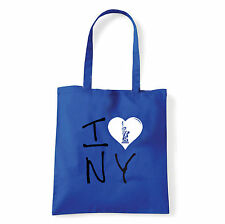 Art T-shirt, Borsa shoulder I Love NY, Blu, Shopper, Mare