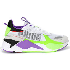 Puma Men's RS-X Bold Puma White/Green Gecko/Royal Lilac Sneakers 37271502 NEW!