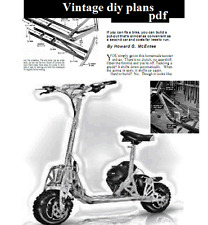 build your own  Petrol Scooter vintage diy project plans
