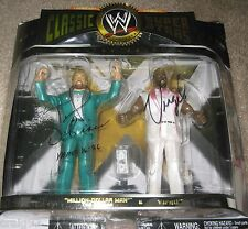 SIGNED TED DIBIASE & VIRGIL WWE WWF CLASSIC SUPERSTAR FIGURE DUAL PACKAGE VHTF