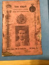 BR923 Rare Hugarian Jewler Price List Catalog 1890 St Louis Mo Epelley Lajos