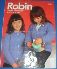 Robin Children's Cardigan Knitting Pattern 2956