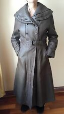 GENUINE LAMB LEATHER TRENCH COAT LINED MADE IN TURKEY, SIZE S, BROWN, MSRP $969