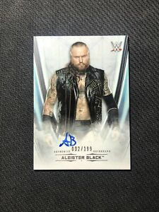2020 TOPPS WWE UNDISPUTED ALEISTER BLACK SUPERSTAR AUTOGRAPH AUTO #ed 2/199