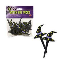 Halloween Witch Hat Picks 12 Piece