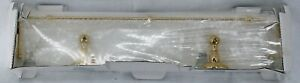 """Ginger Chelsea Collection 24"""" Gallery Rail Shelf Polished Brass #1135/24-3 NEW"""
