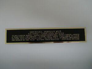 Michael Jordan Bulls Autograph Nameplate For A Basketball Jersey Case 1.5 X 8