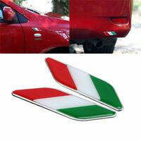 2x Flagge 3D Emblem Aufkleber Italien Italia Motorrad Autoaufkleber L2E1 sc S9E5