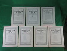 Lot of 7 THE ROSICRUCIAN FORUM 1933-52 Ancient and Mystical Order Rosae Crucis