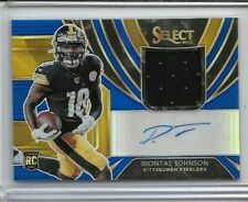 2019 Select Diontae Johnson Autograph Rookie Jersey 39/49 Steelers Pittsburgh