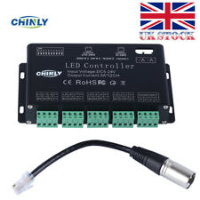 12 Channels DMX 512 RGB LED Strip Controller DMX Decoder Dimmer Driver DC5V-24V
