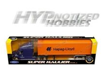 WELLY 1:32 SUPER HAULER FREIGHTLINER COLUMBIA HAPAG-LLOYD DIE-CAST BLUE 32621W