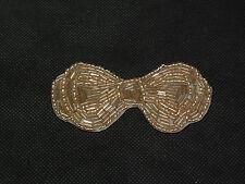 Dorato Champagne da sposa matrimonio Gioielleria perline farfalla applicazione/