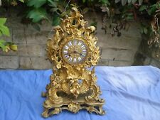 Pendule Cartel Bronze XIXe LOUIS XV Rocaille JAPY FRERES angelot musicien putti