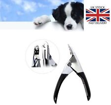 Stainless Steel Dog Cat Pet Nail Toe Claw Clipper Trimmers Scissors Cutter Black