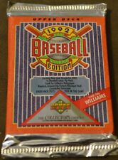 1 Unopened Pack of 1992 Upper Deck Baseball Cards