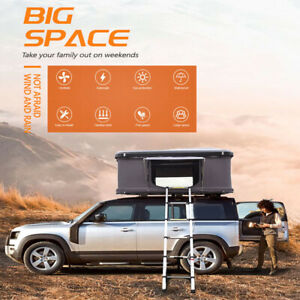 Semi-Automatic Portable Car Truck Camping Hard Shell Roof Top Tent 2-3 Persons