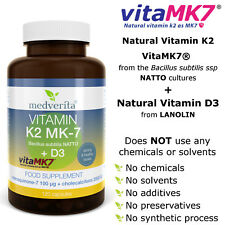 Vitamin K2 MK-7 100 mcg (NATTO) + D3 (LANOLIN) + Inulin (CHICORY ROOT) 120 Caps