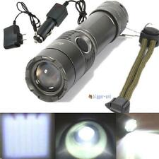 2200LM CREE XM-L T6 LED Rechargeable Flashlight Torch Lamp + AC/Car Charger BA