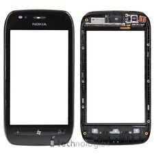 Nokia Lumia 710 Touchscreen Display Glas Scheibe Touch Flex Flexkabel mit Rahmen