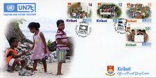 More details for kiribati un stamps 2020 fdc united nations un75 cultures education 4v set