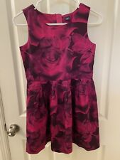 Gap Kids Pink Floral Rose Print Sleeveless Lined Cotton Dress Size XL 12 years