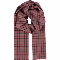 HOGARTH Red Check 100% Cashmere Scarf - Made in Scotland - New with Tags