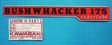 Kawasaki Bushwhacker F3 Side Panel Emblem New! NOS