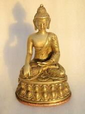 Antique Old Hand Carved Primitive Brass Copper Jain Lord Buddha Sculpture Statue