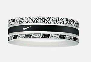 New 3 Pack Nike Headband Sports Gym Band Unisex Women Men Hairband Black Mixed