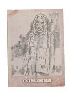 Topps Walking Dead Evolution ONE-OF-A-KIND Hand Drawn Sketch Card - Walker 1/1!