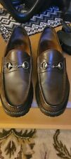 Gucci  Brown  Mens  Leather Loafer Mens Size 10