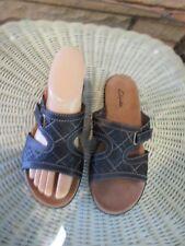 Clarks sandals Shoes Slides Flats Brown size 6.5 M