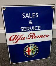 Alfa Romeo Sales and Service Sign