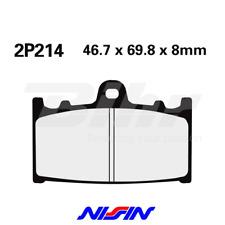NISSIN 2P214ST PAIRES TAMPONS AVANT SUZUKI GSF BANDIT 650 ABS 2011-2014