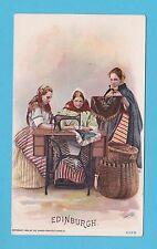 NATIONS - SINGER SEWING - RARE NATIONS / ADVERTISING CARD -  EDINBURGH  - 1894