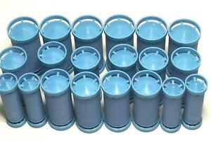 Remington REPLACEMENT 20 Piece Blue Hot Curler Rollers Only No Base Clips Or Box