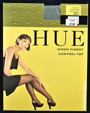 New Pantyhose w/Model HUE Smoke color Size 1 Sheer pindot