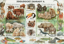 Czech Republic 2017 MNH Zoos II Rhinos Lions Monkeys Polar Bears 4v M/S Stamps