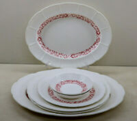 Lot Of Wedgwood Etruria England Strawberry Vine Platters Dinner Plates & Bowl