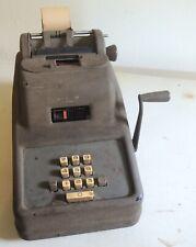 Vintage Crank Mechanical Underwood Leader Adding Machine Model 67