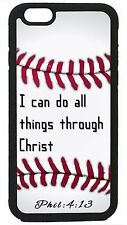 Baseball Case Cover for iPhone 4s 5 5s 5c 6 6 Plus Christian Jesus Bible verse