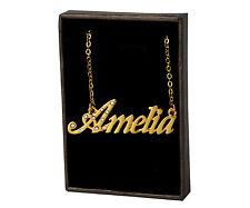 18k Plateó la Collar de Oro Con el Nombre - AMELIA - Regalos Para las Mujeres